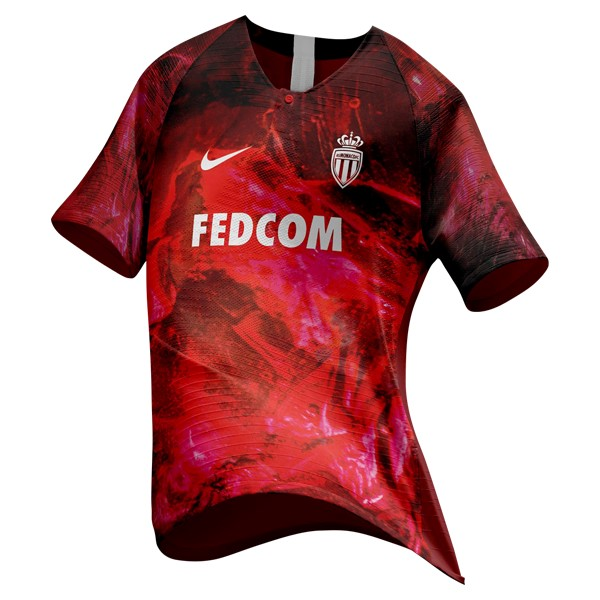 EA Sport Maillot Foot AS Monaco 2018-2019 Rouge