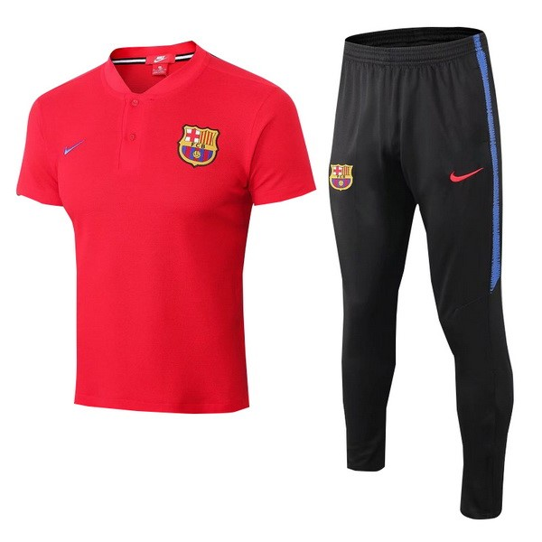 Maillot Polo Barcelone Ensemble Complet 2018-2019 Rouge