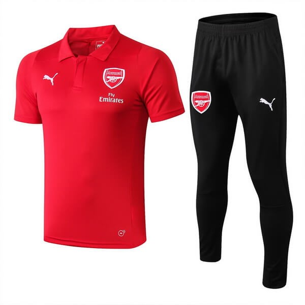 Polo Foot Ensemble Complet Arsenal 2018-2019 Rouge