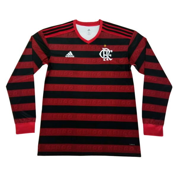 Maillot Foot Flamengo 1ª ML 2019-2020 Rouge