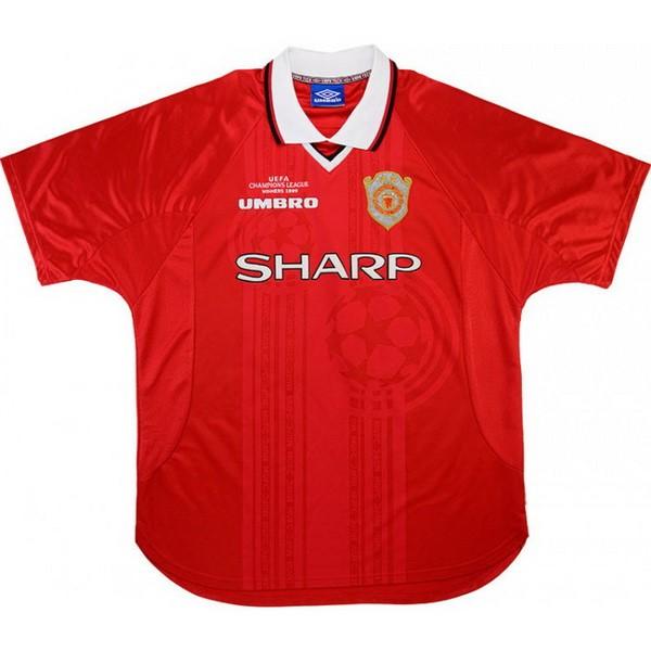 Maillot Foot Manchester United 1ª Retro 1999 2000 Rouge