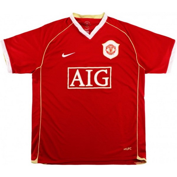 Maillot Foot Manchester United 1ª Retro 2006 2007 Rouge
