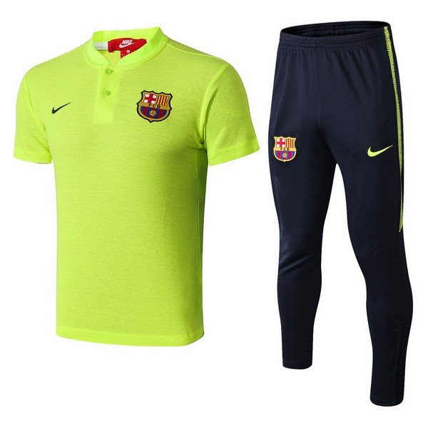 Polo Foot Ensemble Complet Barcelone 2018-2019 Vert Fluorescent