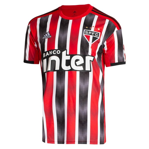 Maillot Foot São Paulo 2ª 2019-2020 Rouge