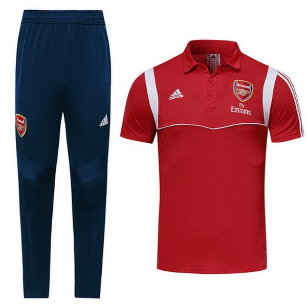 Polo Foot Ensemble Complet Arsenal 2019-2020 Rouge
