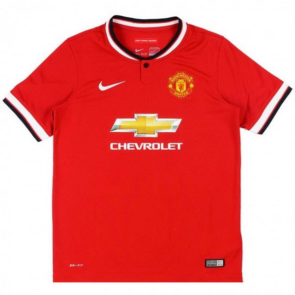 Maillot Foot Manchester United 1ª Retro 2014 2015 Rouge
