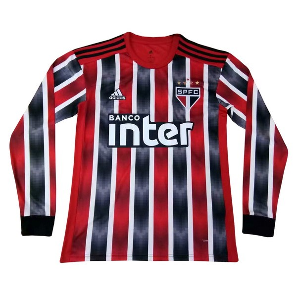 Maillot Foot São Paulo 2ª ML 2019-2020 Rouge
