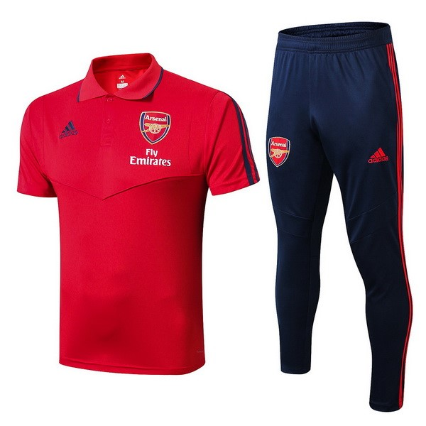 Polo Foot Ensemble Complet Arsenal 2019-2020 Rouge Azul