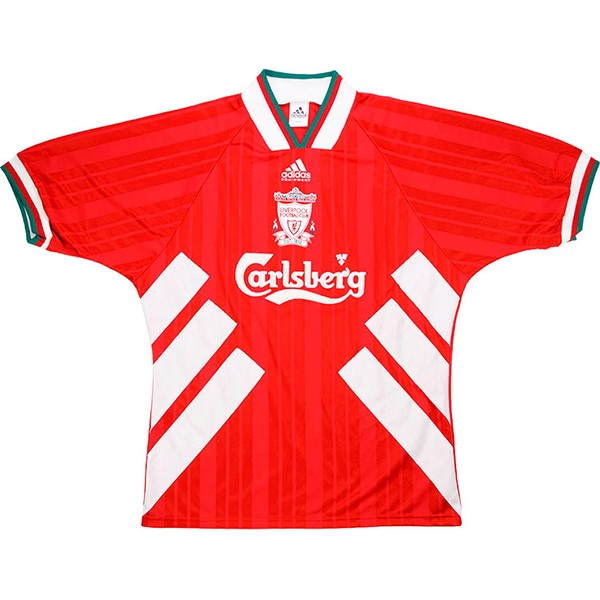 Maillot Foot Football Liverpool 1ª Retro 1993 1995 Rouge