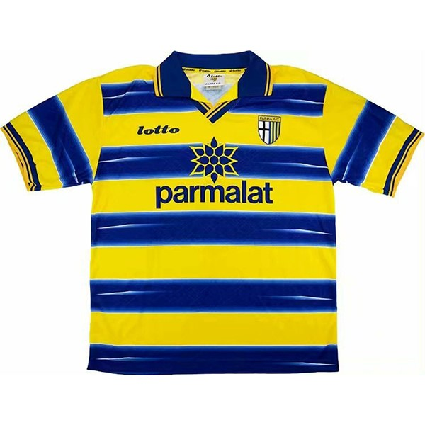 Maillot Foot Football Parma 1ª Retro 1998 1999 Azul Jaune