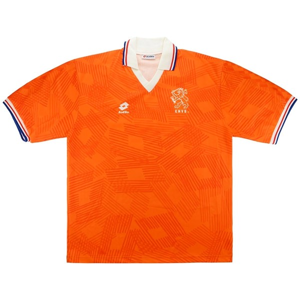 Maillot Foot Football Pays-20Bas 1ª Retro 1991 1992 Orange