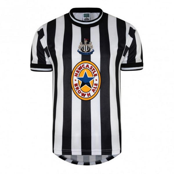 Maillot Foot Football Newcastle United 1ª Retro 1997 1998 Negro Blanc