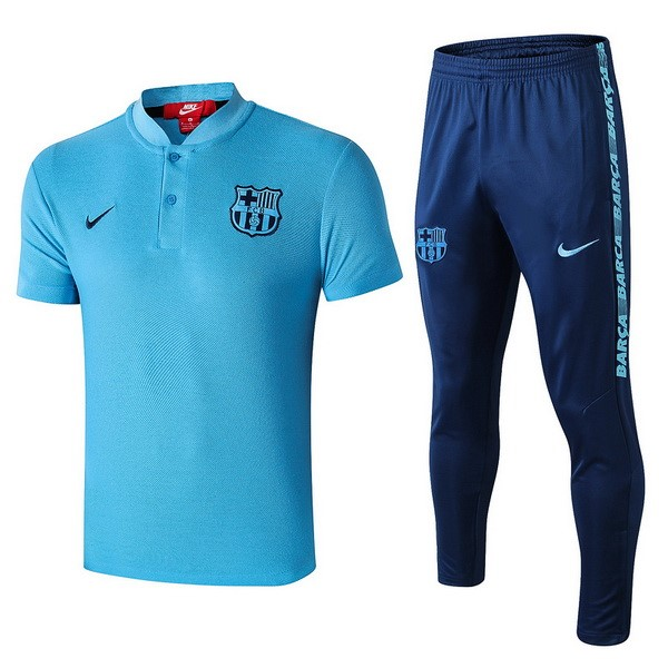 Polo Foot Ensemble Complet Barcelone 2019-2020 Azul Clair