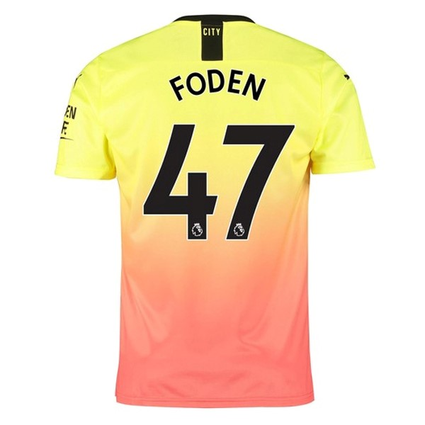 Maillot Foot Manchester City NO.47 Foden 3ª 2019-2020 Orange
