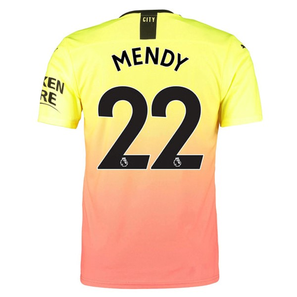 Maillot Foot Manchester City NO.22 Mendy 3ª 2019-2020 Orange