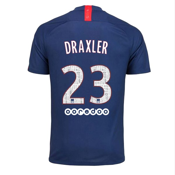 Maillot Foot Paris Saint Germain NO.23 Draxler 1ª 2019-2020 Bleu