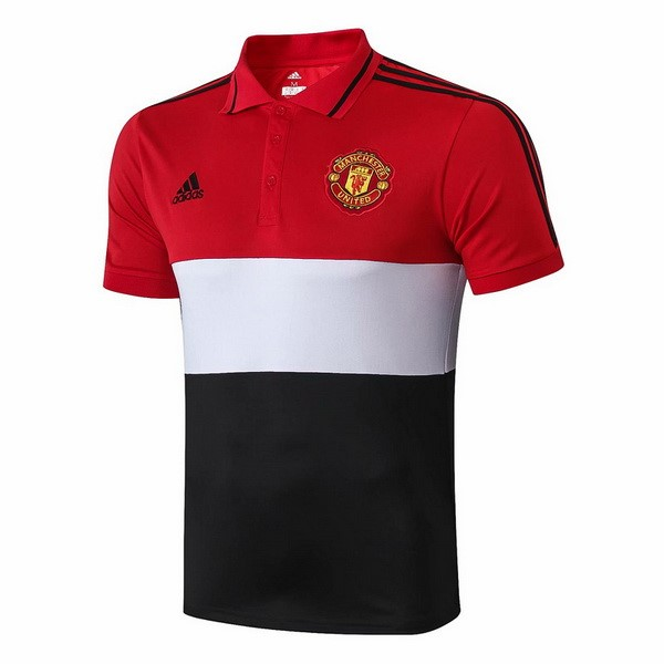 Polo Foot Manchester United 2019-2020 Rouge Blanc Noir