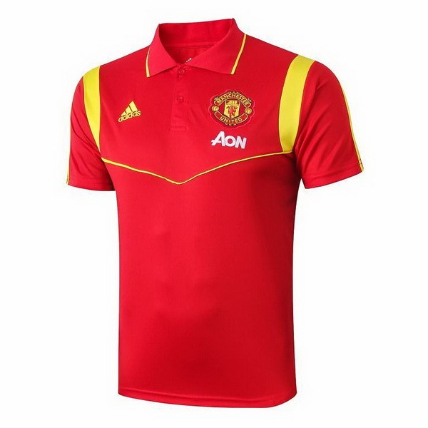 Polo Foot Manchester United 2019-2020 Rouge Or