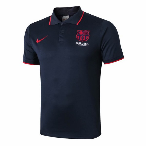 Polo Foot Barcelone 2019-2020 Noir Rouge