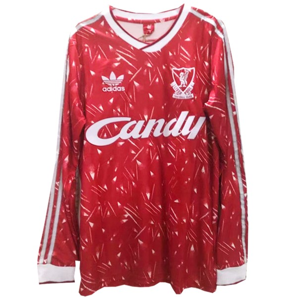Maillot Foot Liverpool 1ª ML Retro 1989 1991 Rouge