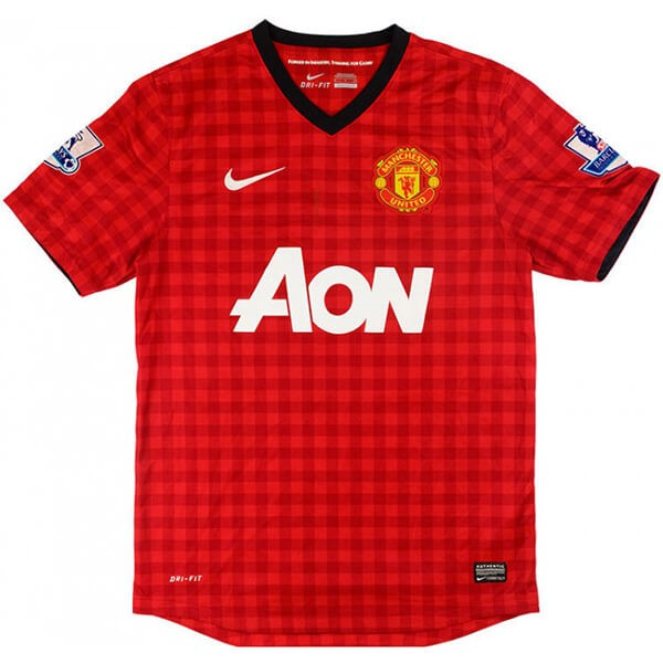 Maillot Foot Manchester United 1ª Retro 2012 2013 Rouge