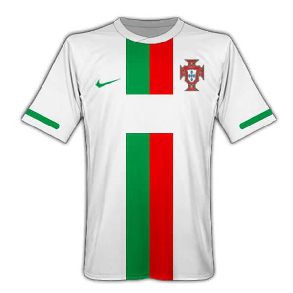 Maillot Foot Portugal 2ª Retro 2010 Blanc