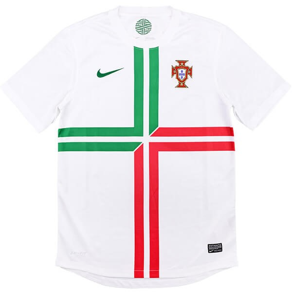 Maillot Foot Portugal 2ª Retro 2012 Blanc