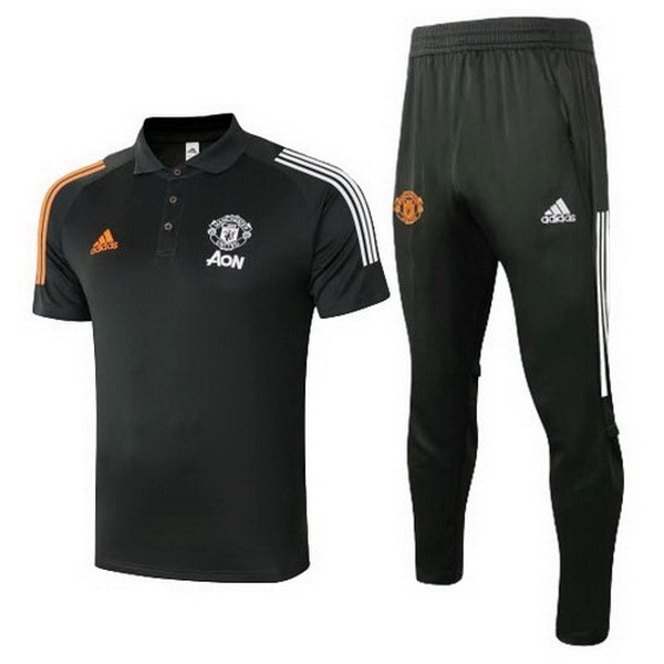 Polo Foot Ensemble Complet Manchester United 2020-2021 Noir