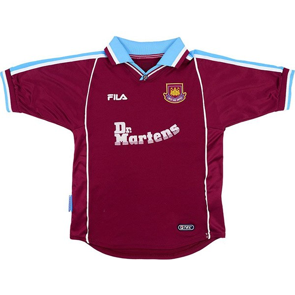 Thailande Maillot Foot West Ham United FILA Domicile Retro 1999 2000 Rouge