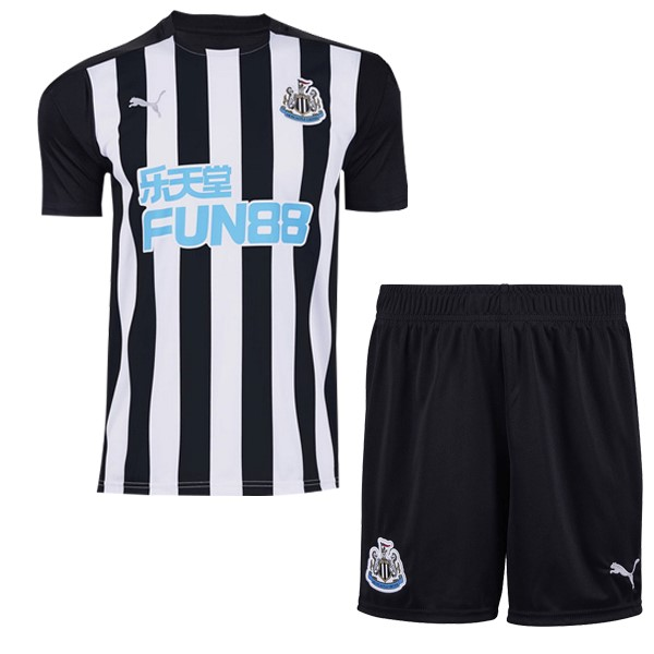 Maillot Newcastle United 1ª Enfant 2020-2021 Blanc Noir
