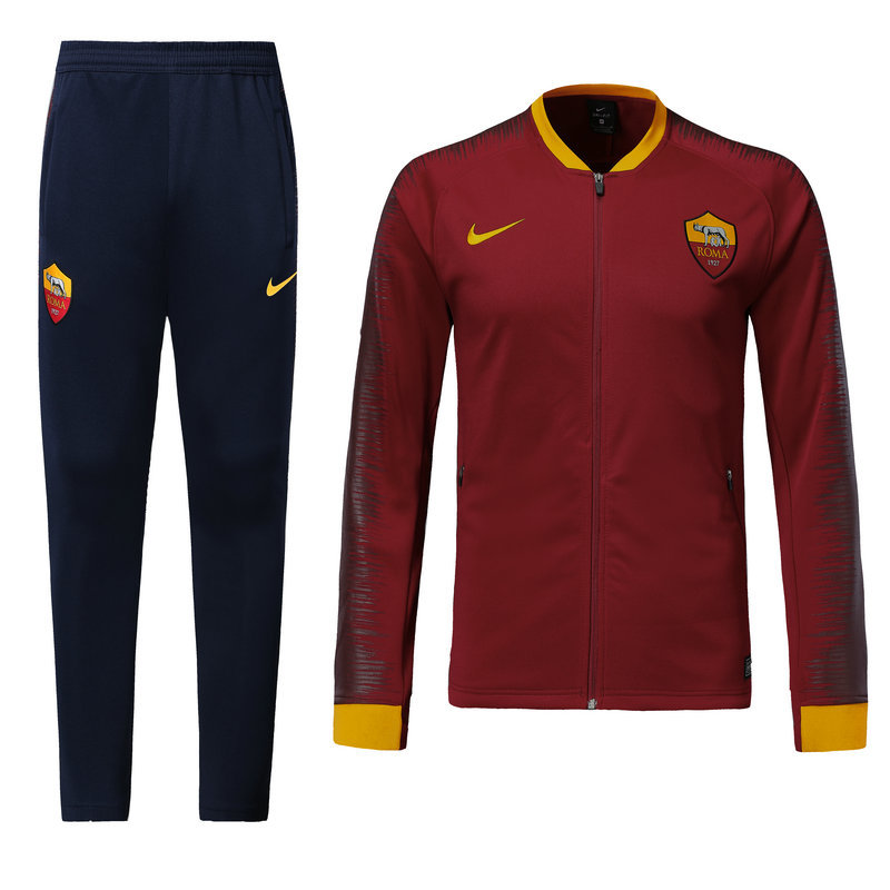 Survetement Foot AS Roma 2018-2019 Rouge Marine