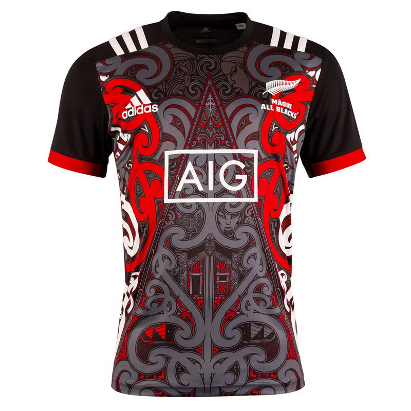 Maillot Entrainement Rugby All Blacks 2018 Noir