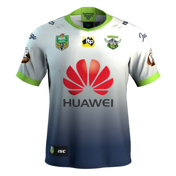 Maillot Rugby Canberra Raiders 3ª 2018 Blanc Bleu