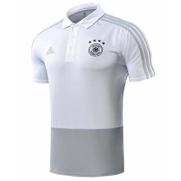 Maillot Polo Allemagne 2018 Gris Blanc