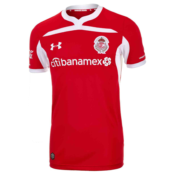 Maillot Foot Deportivo Toluca 1ª 2018-2019 Rouge