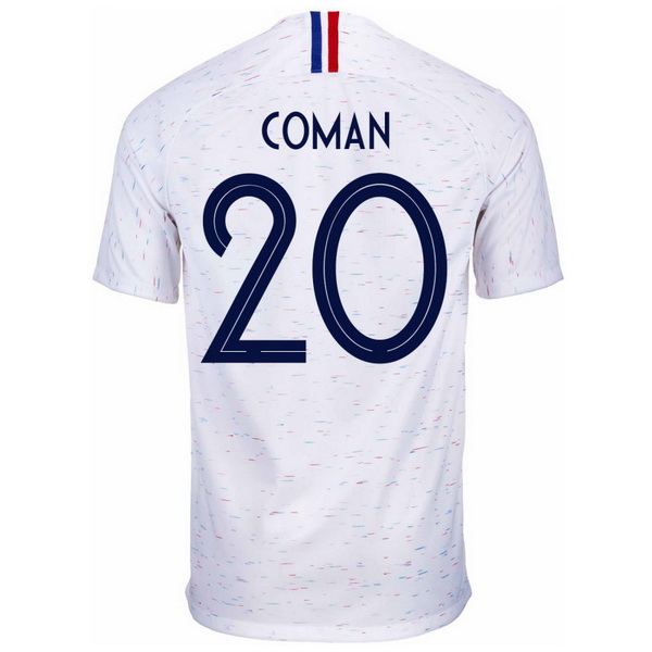 Maillot Foot France 2ª Coman 2018 Blanc