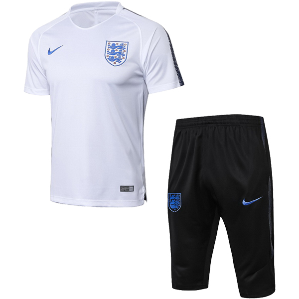 Maillot Entrainement Angleterre Ensemble Complet 2018 Blanc