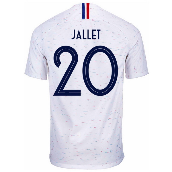 Maillot Foot France 2ª Jallet 2018 Blanc