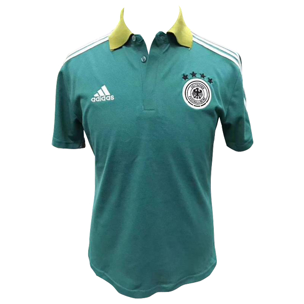 Maillot Polo Allemagne 2018 Vert Blanc